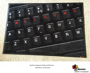 Doormat Keyboard Welcome