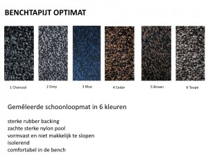 Benchmat kleuren Optimat